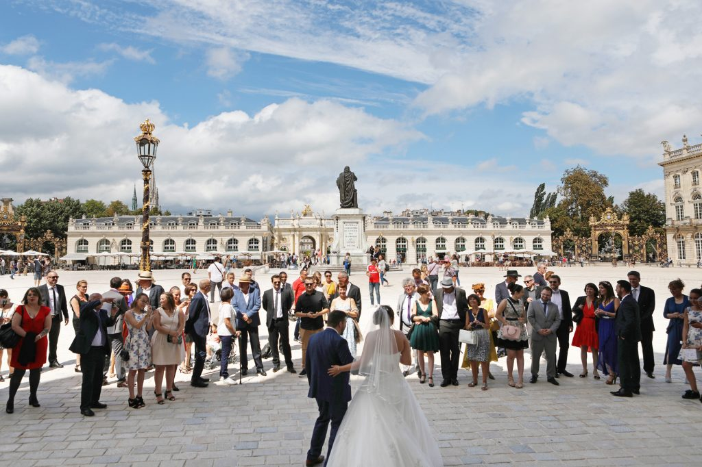 Mariage à Nancy place Stanislas